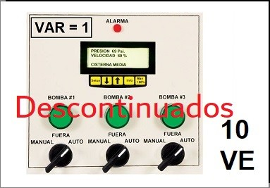Serie 10VE Vel. Variable   Variador = 1 x Tablero